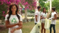 26 Environment Protection With Happy Confident Woman Young People Group video