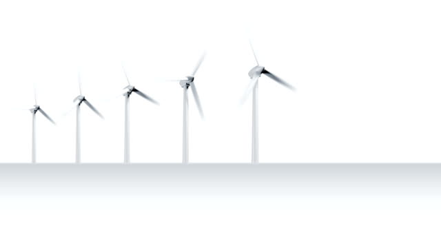 Environmental graphic with turbines and led light bulb video
