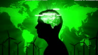 Environmental Thoughts: male silhouette and green issues video