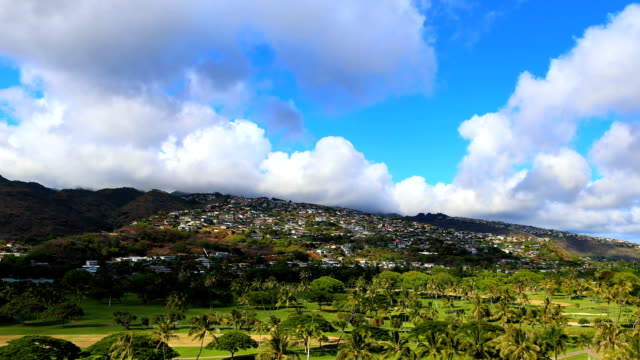 Epic Timelapse Clouds over Hawaii Mountain in Oahu, Honolulu video