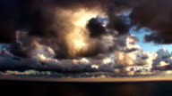 Epic Timelapse Stormy Over The Sea Clouds video