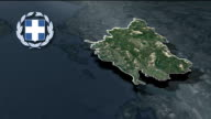 Epirus with Coat Of Arms Animation Map video
