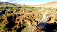 HELI Epupa Falls With Surrounded Landscape video