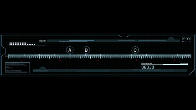 Equalizer HUD digital animated UI panel video