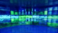 equalizer on screens in virtual studio loop video