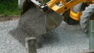 Equipment Excavator Moving Gravel video