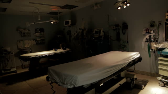 Equipment in emergency room at hospital video