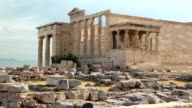 Erechtheion - antique temple in Athenian Acropolis, Greece video