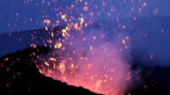eruption of the volcano 'etna' in sicily, italy video