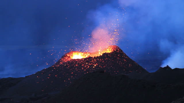 Eruption of Volcano video