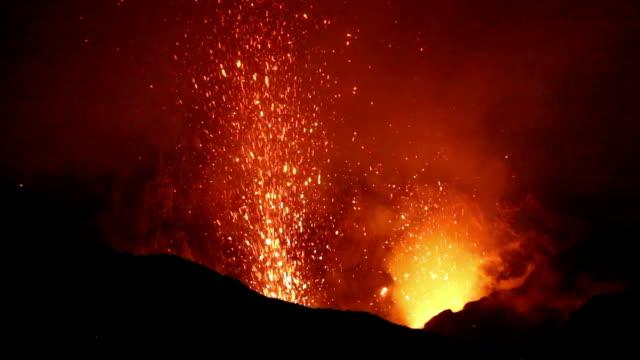 Eruption of Yasur Volcano on Vanuatu video