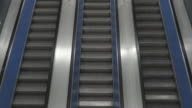 Escalator from top view video