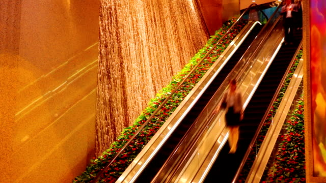 Escalator in fashion building. video