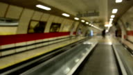 Escalator in metro video