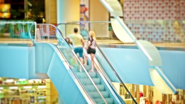 Escalator in shopping mall video