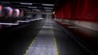 Escalator moving down video
