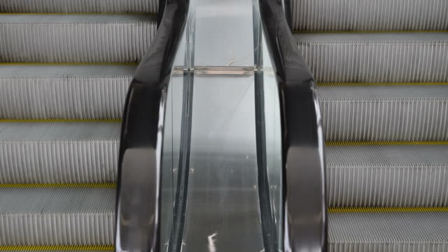Escalator running up and down video