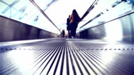 Escalators are shown that constantly run upstairs video