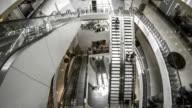 Escalators in shopping mall. video