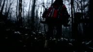 Escaping in the forest video