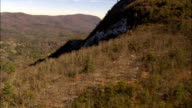 escarpment of ice near cashiers - Aerial View - North Carolina,  Jackson County,  United States video