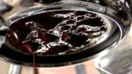 Espresso brewing closeup view video
