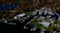 Essex Village  - Aerial View - Connecticut,  Middlesex County,  United States video
