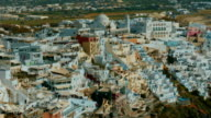 Establishing Close-up Shot of a Traditional Cycladic Mediterranean Village- video