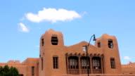 Establishing Shot of a Historic Looking Adobe Building video