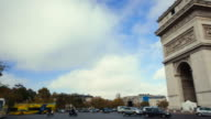 Paris, France - November 11, 2014: establishing shots of Arc de Triomphe on daytime. video