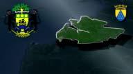 Estuaire - Libreville whit Coat of arms animation map video