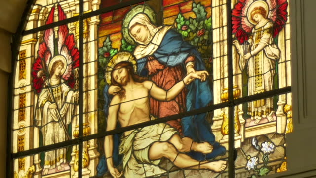 esus and Saint Mary Stained Glass video