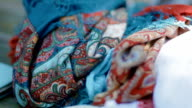 Ethnic clothes. Close up video
