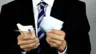 Euro banknotes and banana video