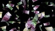 Euro Bills Falling  with Luma Matte video