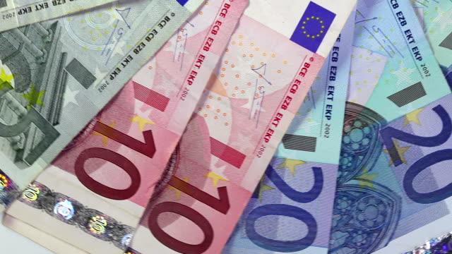 Euro bills video