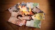 Euro Crisis, Notes Set on Fire, Credit Crunch, Recession video