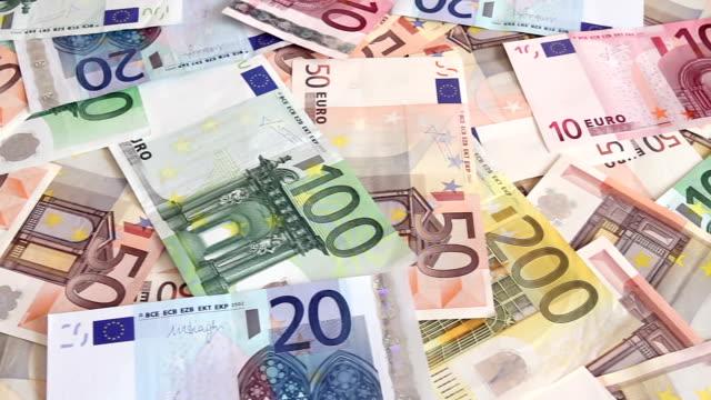 Euro money background video