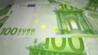 euro paper money European video