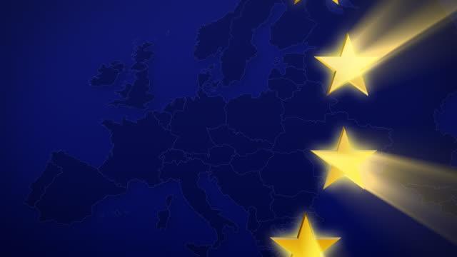 Euro stars animation video