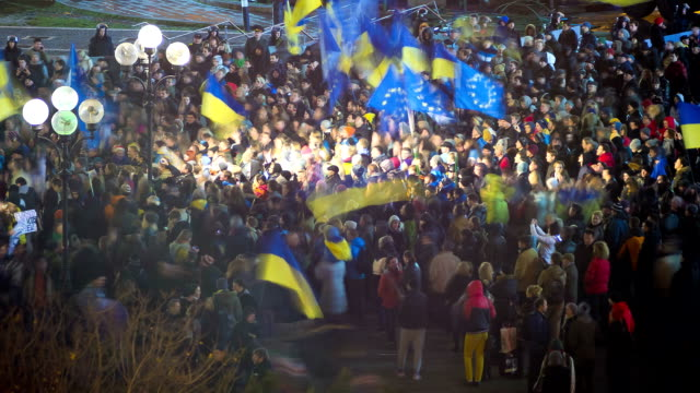 Euromaidan protests in Ukraine, November 2013 - Time lapse video
