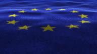 Europe Flag, Textile Carpet Background, Loop, 4k video