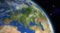 Europe from space video