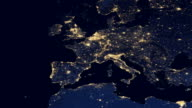 Europe Night From Space video