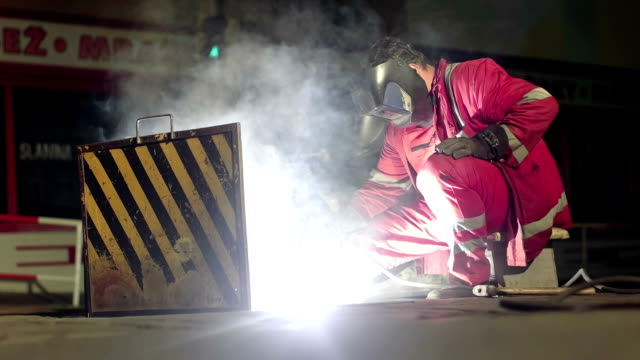 European Caucasian man fixing the rails video
