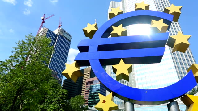 European Central Bank in Frankfurt video