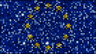European flag - seamless looping video