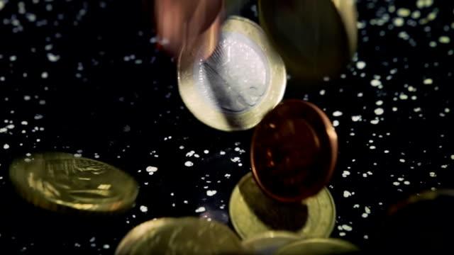 European Union Coins, Slow Mo video