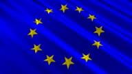 European Union Flag 3D Stars Loop  (HD) video