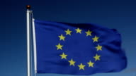EU European Union flag being raised video